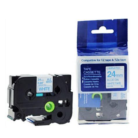 Asli Impor Tze 531 Label tze 253 label 24mm 0 94 quot blue on white