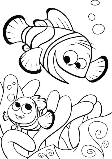 disney nemo coloring pages free disney finding nemo fish coloring pages to drawing pictures