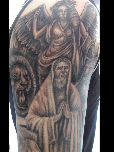 lions den tattoo tattoos by jedi daniel in the lions den progress