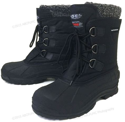 shoes for in winter mens winter boots waterproof 9 quot black insulated