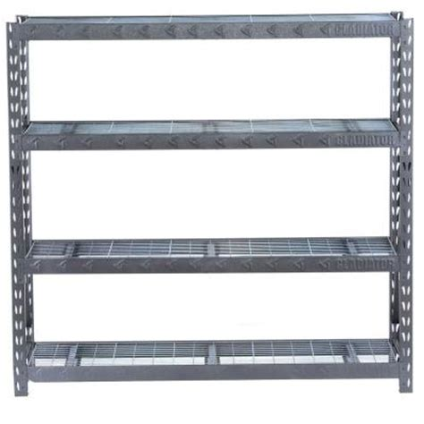 gladiator 4 shelf 72 in h x 77 in w x 24 in d welded