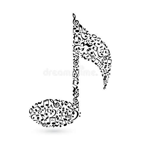 dot pattern note la noire note de musique sur le blanc illustration de vecteur