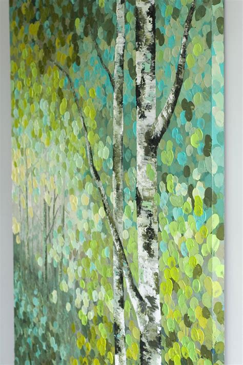 acrylic paint trees seeds original acrylic aspen birch tree acrylic