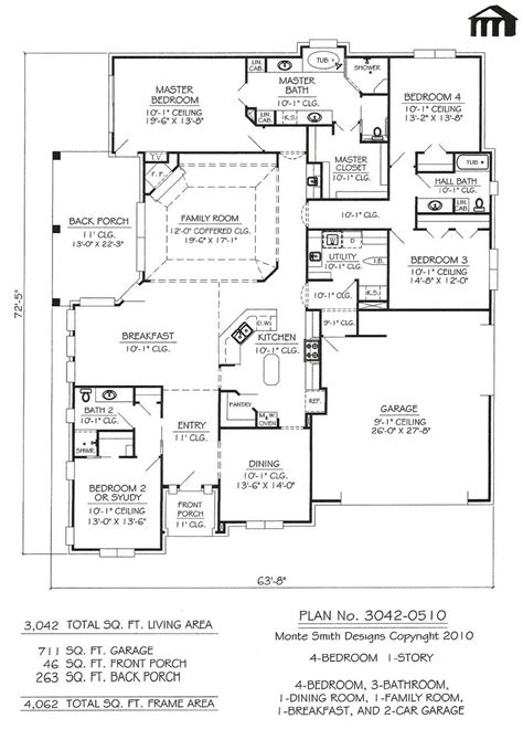home design for 4 bedrooms 4 bedroom 1 story house plans catchy interior home design