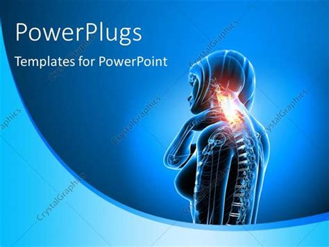 powerpoint template female anatomy depicting medical