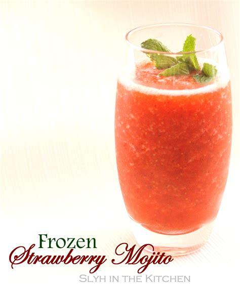frozen mojito frozen strawberry mojito slyh in the kitchen