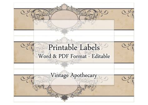 Soap Labels Printable Apothecary Editable Label Band Floral Soap Band Template
