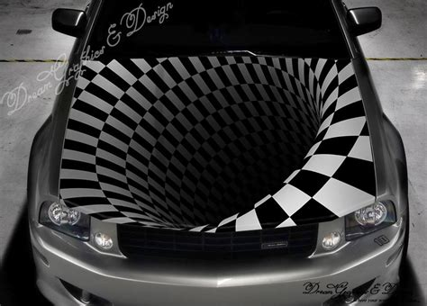abstract 3d color graphics adhesive vinyl sticker fit