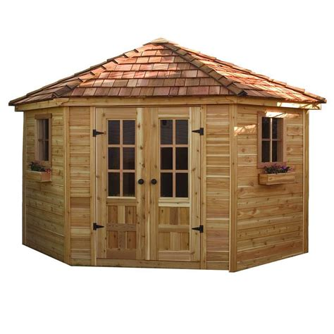 Sheds For Living by Outdoor Living Today Penthouse Garden Shed With Floor 9 Ft X 9 Ft The Home Depot Canada