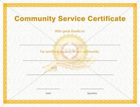 community templates community service certificate template pdf