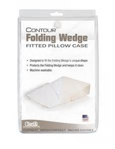 contour folding wedge pillow slip cover for wedge