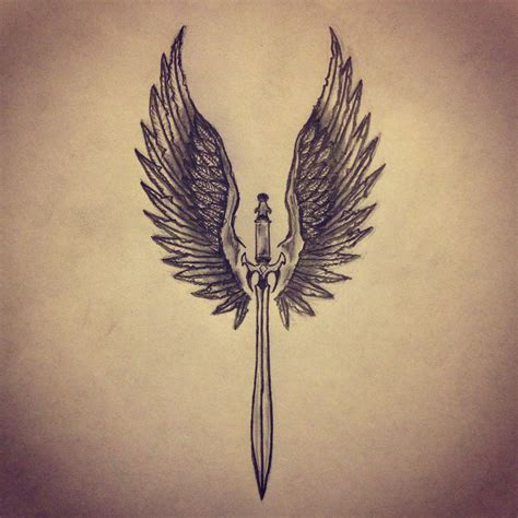 valkyrie wings tattoo wings sword sk sketches