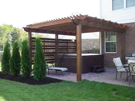 oversized pergola for hot tub patio backyard at the new