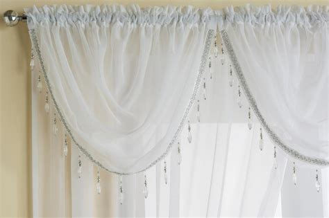 beaded valance sapphire sheer voile beaded swag x1 drape pelmet