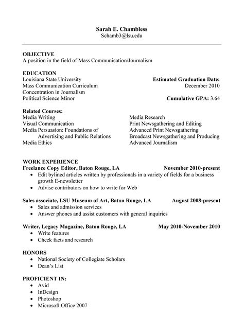resume for inexperienced high school student resume ideas