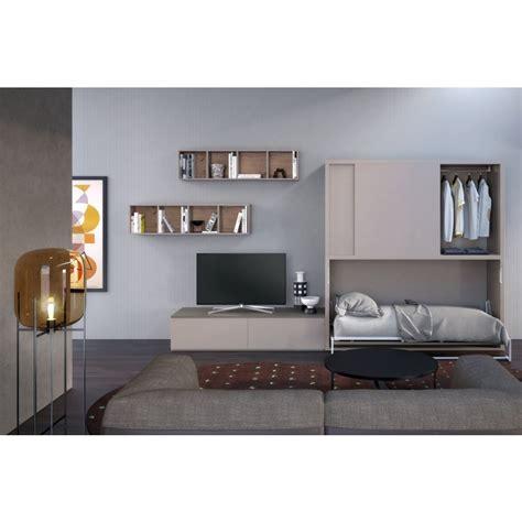 armadio parete parete attrezzata con armadio e letto a scomparsa dynamic