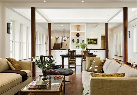 architecture impressive living room wooden four posts