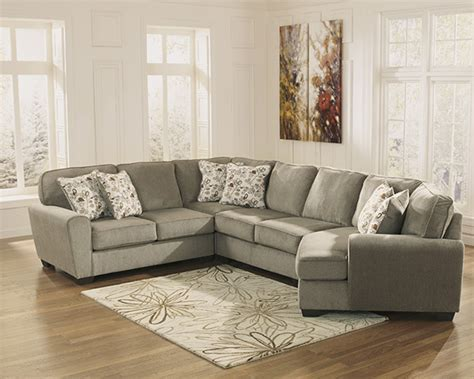 ashley furniture patina sectional patola park patina sectional sofa with cuddler seat