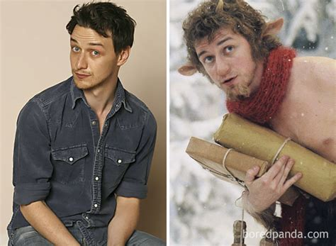 james mcavoy lion witch 30 incredible pics of actors before and after applying