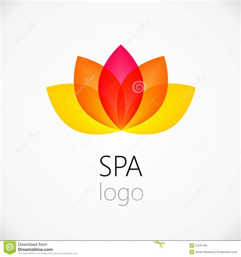 lotus flower abstract logo design template stock