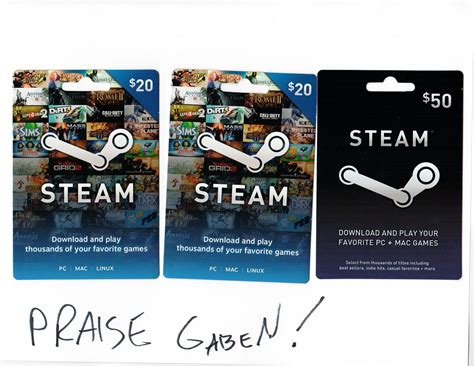 50 Dollar Steam Gift Card - image gallery steam cards 30