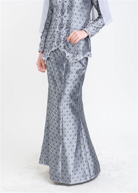 Baju Songket Grey kurung moden songket nikah grey bottom baju kurung moden terkini 2017