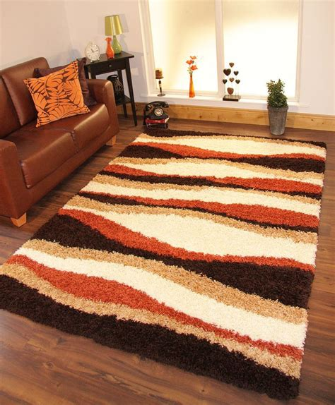 Office Throw Rugs Details About Shaggy Rug Thick Soft Warm Terracotta Burnt