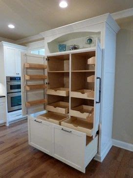 custom built  pantry  rollout shelves craftsman