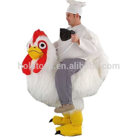 Buy Upholstery Cleaner Hola Chicken Rider Mascot Costume Riding Animal