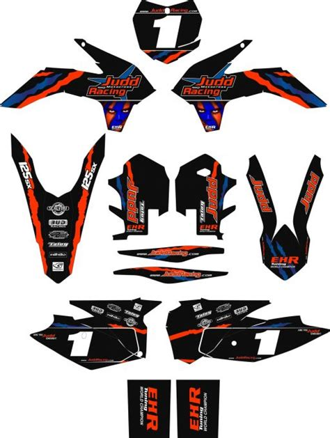 Ktm Decals Uk Judd Racing Team Graphics Ktm 50 65 85 125 Judd