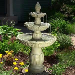 Garden Water Fountains Tulip 3 Tier Garden Water Eonshoppee