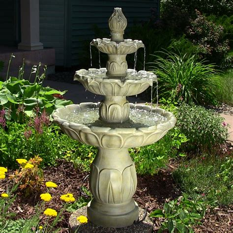 patio fountains tulip 3 tier garden water eonshoppee