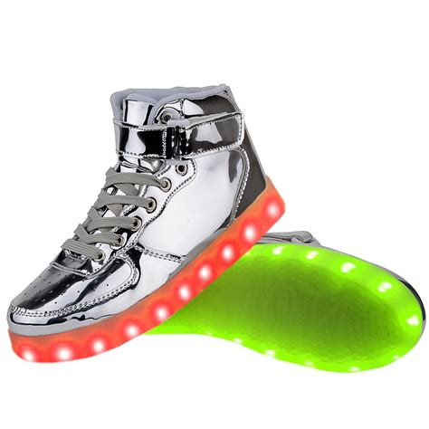 light shoes for women high top usb charging led light up shoes flashing