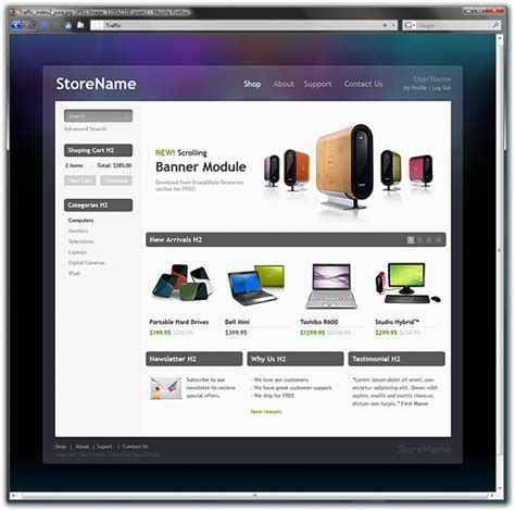drupal themes free download ecommerce traffic ecommerce a free premium drupal 6 theme drupal