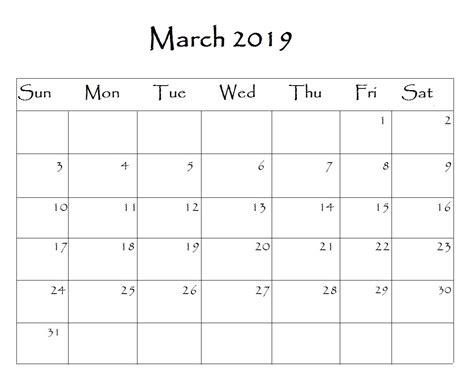 march 2019 calendar word march 2019 calendar editable blank images printable free