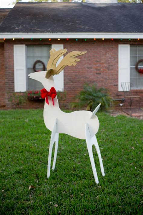reindeer yard decorations eclectic recipes reindeer and wooden yard