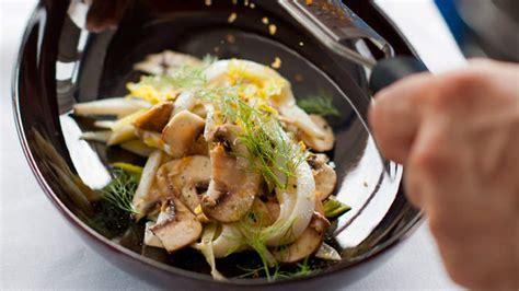Cuttlefish salad with fennel, mushrooms and bottarga ...