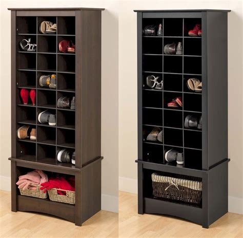 Storage Closet Doors Wooden Shoe Racks For Closets Cosmecol
