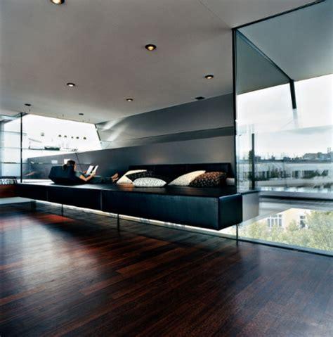 moderne boden kerzenständer holz boden und decke modern interieur