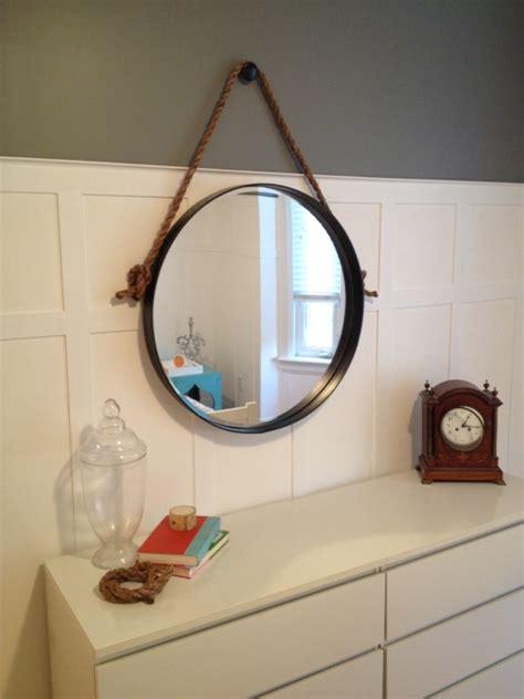 diy knock off metallic mirror frame hometalk hometalk diy restoration hardware knock off iron rope