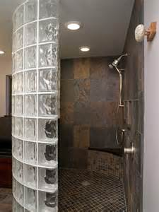 Traditional Shower Bath Glass Block Shower Traditional Bathroom Cleveland