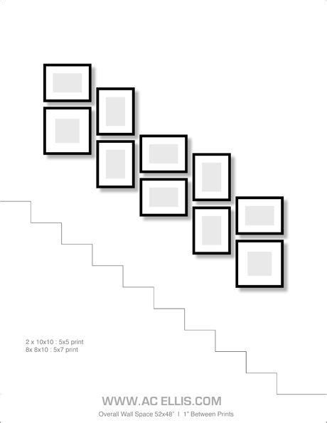 Stairway Photo Gallery Template by Photo Gallery Wall On A Staircase Pinteres
