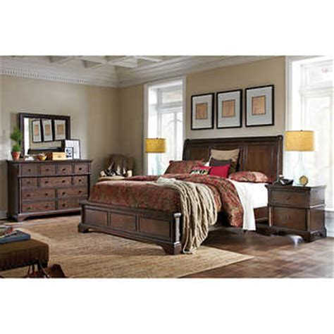 costco caprice 5 piece king bedroom set furniture brownstone 5 piece cal king bedroom set