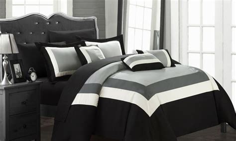 King Comforter Sets Groupon by Danny Colorblock Bed In A Bag 10 Pc Comforter Sets