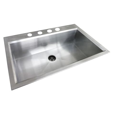 19x33 Kitchen Sink Glacier Bay Dual Mount Stainless Steel 33 In 4 Single Basin Kitchen Sink In Satin Finish