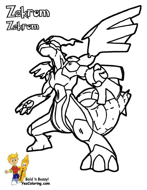 Pokemon Coloring Pages Black And White Zekrom | free coloring pages of pokemon zekrom y reshiram