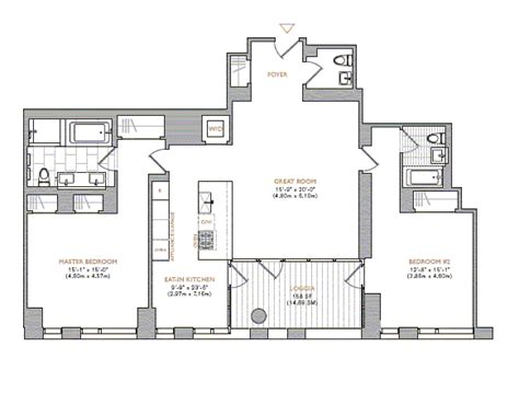 the warren floor plan 101 warren street tribeca condos for sale