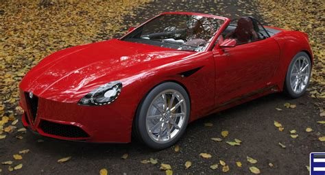 new alfa romeo spider imagined with quadrifoglio flavor