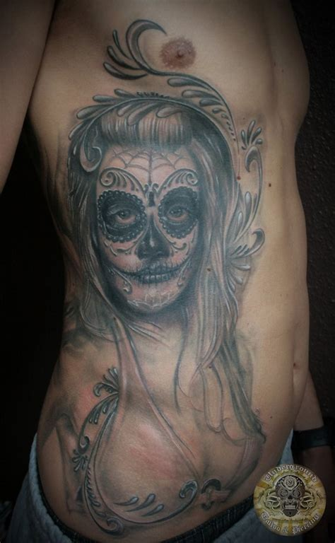 tattooed santa santa muerte on ribs tattooimages biz