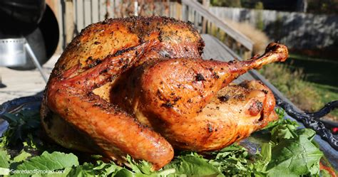 brined and smoked thanksgiving turkey 2016 seared and smoked